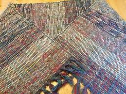 rag rug runners handmade rag rug runner with fringe 145 x 54 excellent condition rag rug