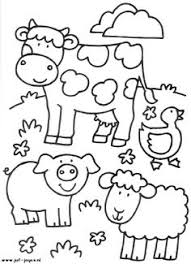Small Picture Farm Animal For Kids Coloring Page Free Download