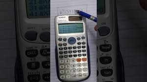 solution of quadratic equation by using casio fx 991es plus calculator