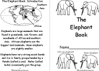 elephants printouts information and a quiz com
