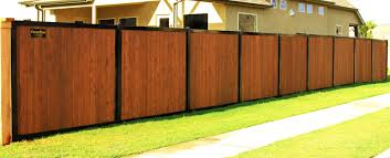 metal privacy fence. Exellent Fence A Wood Privacy Fence Metal Posts U0026 Frame On Y