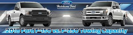 2018 ford f 150 vs f 250 towing capacity
