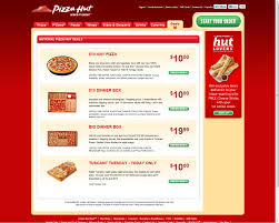 pizza hut us s facebook page us deals tab