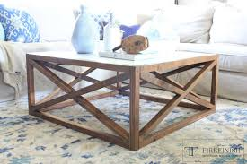 square x coffee table by firefinish diy coffee table free plans