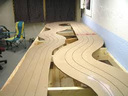 i simply used 1 x 4 pine boards and ed them in place i moved them several times to get the track where i liked it