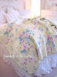 shabby chic bedroom quilts shabby chic bedding sets queen cottage chic summer yellow pink roses blue