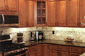Black Granite Countertops With Tile Backsplash Extraordinary Tile Backsplash Dark Countertop Tile Backsplash Ideas With Black