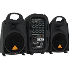sound system. behringer europort ppa500bt - 500w 6-channel portable pa system with bluetooth wireless sound s