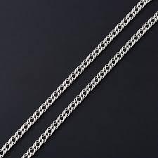 Купить <b>Цепь полновесная</b> двойной ромб <b>60</b> см (серебро 925 пр ...