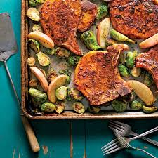 pork chops with roasted apples