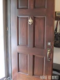 Refinish Stained Wood How To Refinish An Exterior Door The Easy Way