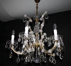 vintage marie therese chandelier large glass clad ceiling light ref aag8