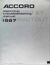 1987 honda accord electrical troubleshooting manual 87 wiring image is loading 1987 honda accord electrical troubleshooting manual 87 wiring