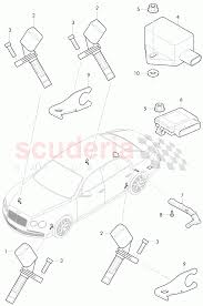 Speed sensor with securing parts