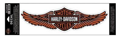 amazon com harley davidson straight wing decal orange 3xl size