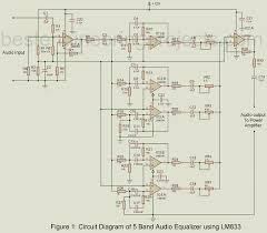 5 band graphic equaliser circuit diagram wiring diagrams 5 band audio equalizer circuit using lm833 engineering projects 5 band graphic equaliser circuit diagram