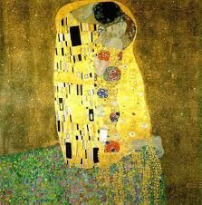 famouspaintings the kiss gustavklimt touted as klimt s most famous painting the kiss