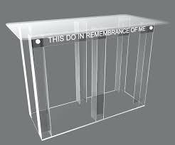 plexi glass image is loading clear acrylic church communion table desk plexiglass for calgary