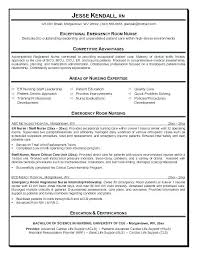 Resume Examples For Nurses Unique Emergency Rn Resumes Yeniscale