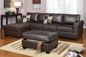 f7329 dark brown sectional sofa set by