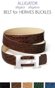 Alligator Belt Strap For Hermes H Buckle Belt Kit Color Choice Casanova1948