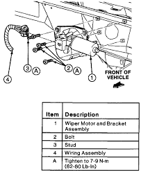 ford ranger 4x2 how do you replace the wiper motor ive graphic