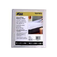 plastic mattress cover. Blue Hawk Plastic Queen/King Mattress Cover U