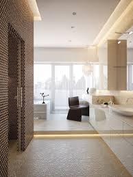 modern master bathroom interior design. Perfect Interior Wonderful Contemporary House Interior Looks Bright With Glass Wall  Sleek  Modern Interiors Bathroom Floating Vanity Sink Inside Master Design B