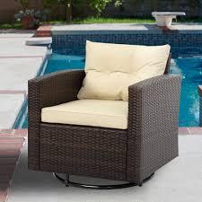 Sol 72 outdoor arlington swivel patio chair with cushions wayfair