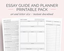 student printables planners and organisers by emmastudies on  essay guide and planner printable pack school college university student essay writing template