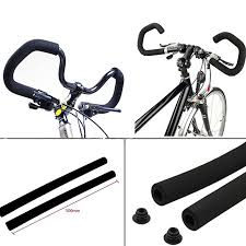 <b>1 Pair</b> 54cm Cycling Bicycle Foam Butterfly Handlebar Cover Elastic ...