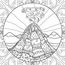 Color in this picture of a volcano and share it with others today! Coloring Page Volcano Stock Illustrations 123 Coloring Page Volcano Stock Illustrations Vectors Clipart Dreamstime