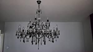 black marie theresa 12 light chandelier