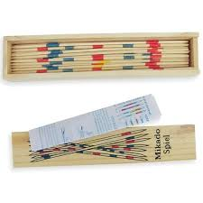 Game With Wooden Sticks Baby Educational Wooden Traditional Mikado Spiel Pick Up Sticks 9