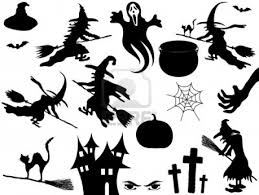 Halloween Spooky silhouette Holiday custom vinyl decals for home, office,  or