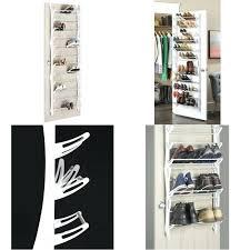 closet door shoe rack over the pair storage shoes organizer home hanger white with built in closet door shoe rack