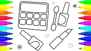 Makeup Coloring Pages Stein Make Up Coloring Page Pages On Makeup