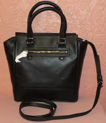 ... coach tanner legacy mini tote black leather cross body bag