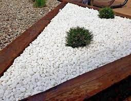 decorative marble extra white stones
