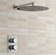 thermostatic brand bathroom: thermostatic shower set bathroom round  inch stainless steel shower head wall concealed install shower faucet