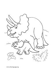 Disegni Da Colorare Dei Dinosaurimamma Con Cucciolo Blogmammait