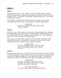 Movie Script Example Sample Script Rome Fontanacountryinn Com