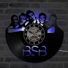 famous classic backstreet boys retro vinyl record clock black cd creative hanging led wall clocks home