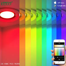 Colored Led Can Lights High Quality Moodlight Smart Color Changing Led Down Light Mobile App Wifi Control Led Recessed Downlight Rgb 3w Buy Color Changing Led Down