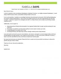 Cover Letter Bookkeeper