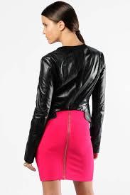 bcbg black leather jacket