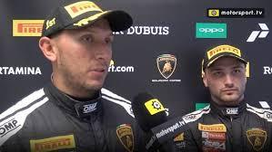 Victory in race 1 for JC Perez and Loris Spinelli - Lamborghini Super  Trofeo Videos