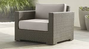 crate barrel outdoor furniture. Crate Barrel Ventura Umber Lounge Chair With Sunbrella ® Cushions Silver And Outdoor Furniture P