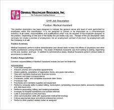cal assistant job description templates free sample