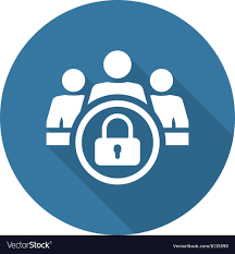 Personal Data Protection Icon Flat Design